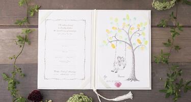 結婚証明書×にがおえ指紋アート