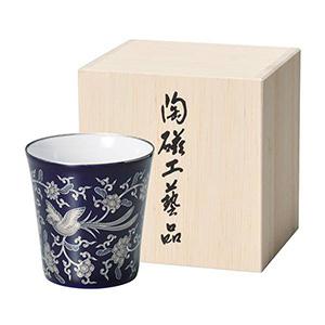 香蘭社 フリーカップ(ルリ花鳥唐草文)