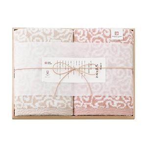今治謹製 紋織タオル バスタオル2P(ピンク)