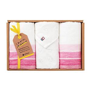 しあわせの今治ガーゼ フェイスタオル3P(ピンク)
