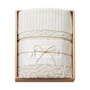 今治謹製 木箱入り 紋織タオルケット(ベージュ)