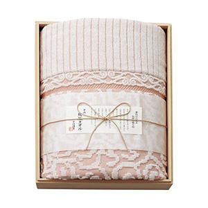 今治謹製 木箱入り 紋織タオルケット(ピンク)