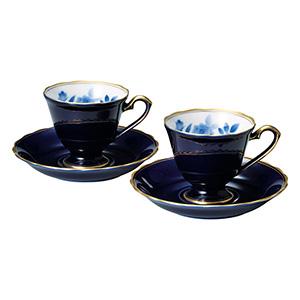 香蘭社 サムシングブルー ペア碗皿