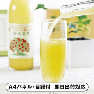 青森津軽産地直送樹成完熟林檎ジュース【パネル・目録付】