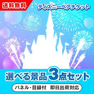 東京ディズニーリゾート1dayパスポートペアチケット 選べる景品3点セット