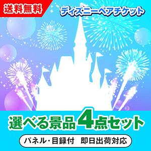 東京ディズニーリゾート1dayパスポートペアチケット 選べる景品4点セット