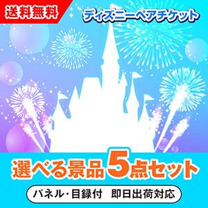 東京ディズニーリゾート1dayパスポートペアチケット 選べる景品5点セット