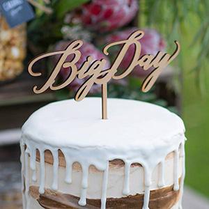 ケーキトッパー メッセージタイプ Big Day -ビッグデイ-