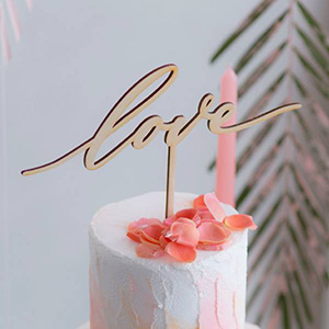ケーキトッパー メッセージタイプ love -ラブ-