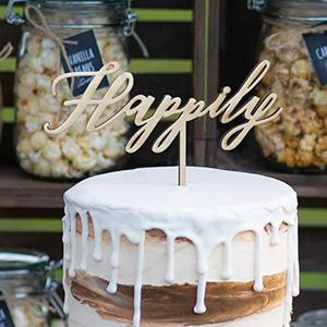 ケーキトッパー メッセージタイプ Happily -ハピリー-