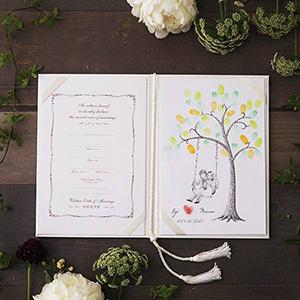 にがおえ指紋アート結婚証明書 Wedding  Tree -ウェディングツリー-