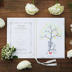 にがおえ指紋アート結婚証明書 Hug Wedding Tree -ハグ・ウェディングツリー-