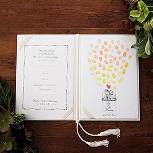 にがおえ指紋アート結婚証明書 Balloon Trip -バルーン・トリップ-