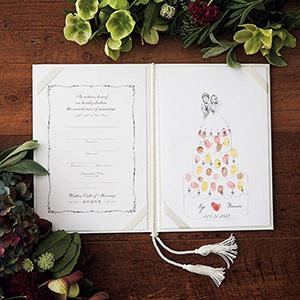 にがおえ指紋アート結婚証明書 Wedding Cake -ウェディングケーキ-