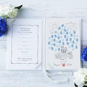 にがおえ指紋アート結婚証明書 Resort -リゾート-