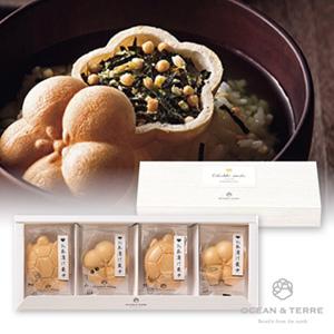 お茶漬け最中セットA(鯛、梅、鮭、たらこ)(賞味期限:4ヶ月程)