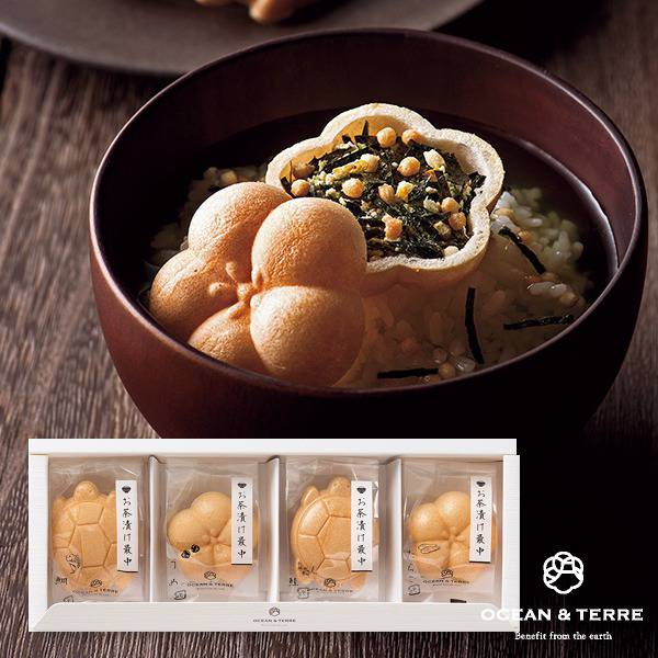 お茶漬け最中セットA(鯛、梅、鮭、たらこ)