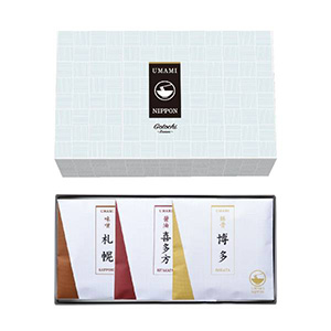 UMAMIご当地ラーメン10A【札幌味噌・喜多方醤油・博多豚骨】