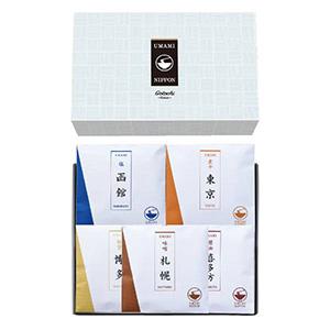 UMAMIご当地ラーメン15A【日本のご当地ラーメン5種】
