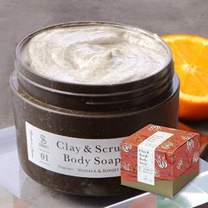 【SWATi】ボディソープ -Clay & Scrub  Body Soap-(Vanilla & Sunset sea)