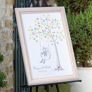 にがおえ指紋アート Wedding  Tree -ウェディングツリー-