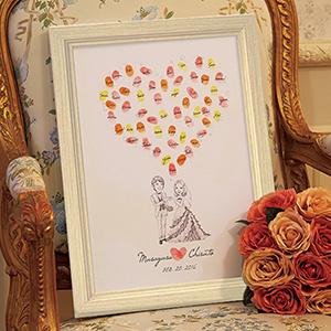 にがおえ指紋アート Love  Heart -ラブハート-