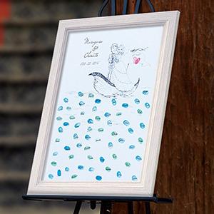 にがおえ指紋アート Ocean -オーシャン-