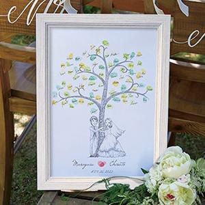 にがおえ指紋アート Hug Wedding Tree -ハグ・ウェディングツリー-