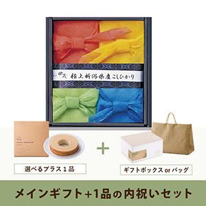 内祝いセット(グルメギフト 田蔵こしひかり 特選新潟県産こしひかりギフト(4個入))