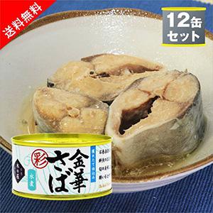 【送料無料】木の屋石巻水産 金華さば水煮(彩) 鯖缶詰12缶セット