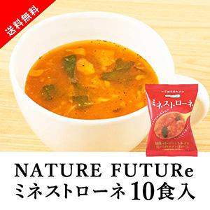 【送料無料】メール便 Nature Future ミネストローネ 10食セット