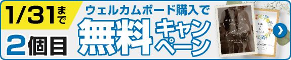 2枚目無料キャンペーン